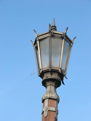 Close-up of a streetlight